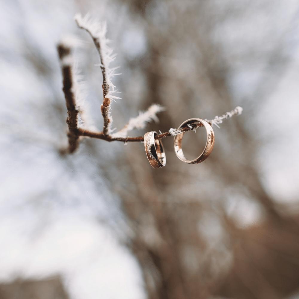 la magie d'un mariage en hiver