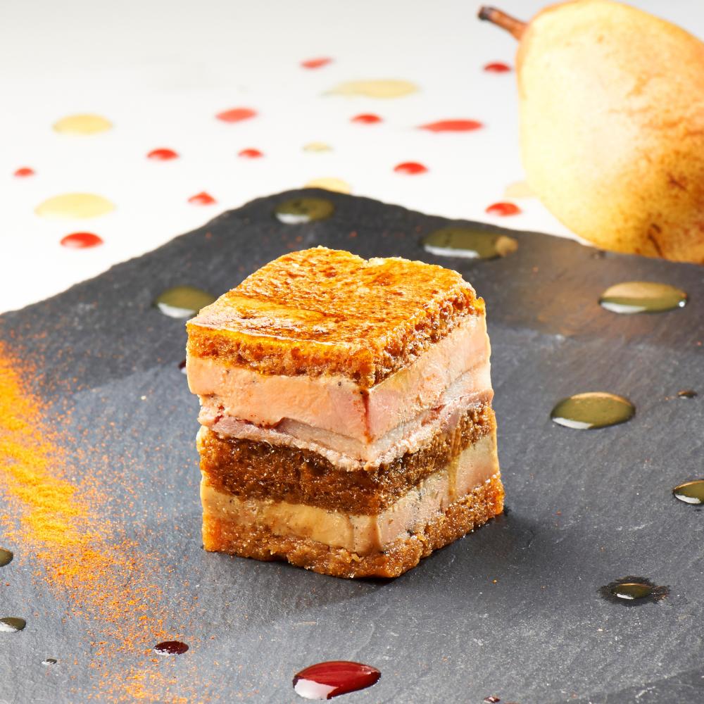 opera de foie gras de canard aux poires