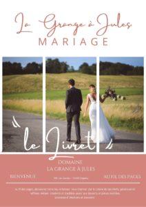 livret menu mariage